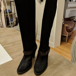 Cole Haan Nike Air Black Suede Knee-High Boots